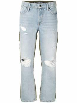 Alexander Wang укороченные джинсы с эффектом потертости 4D994220CK