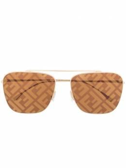 Fendi Eyewear солнцезащитные очки в квадратной оправе с монограммой FF0406S