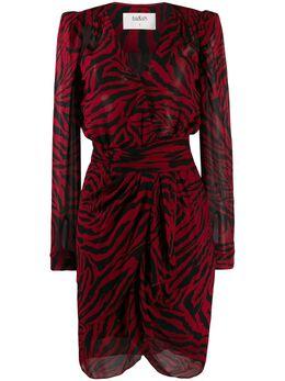 Ba&sh платье с запахом и зебровым принтом 1H19SAPH