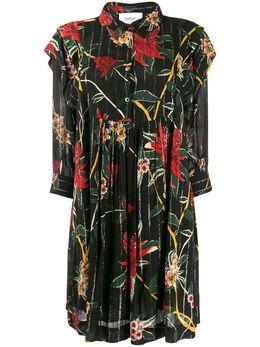 Ba&sh платье-рубашка мини с цветочным принтом 1H19PAPR