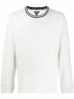 Polo Ralph Lauren striped detail round neck sweatshirt 71454035