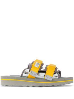Suicoke сандалии с ремешками и вставками OG056VEU3ARGENTO