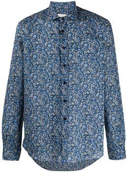 Etro рубашка с заостренным воротником и принтом пейсли 163764766