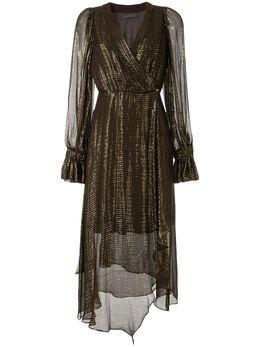 Ginger & Smart платье Bourgeois с запахом и эффектом металлик W20526