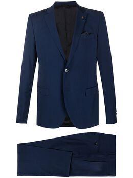 Manuel Ritz pleat detail slim fit suit 2830A3318203050
