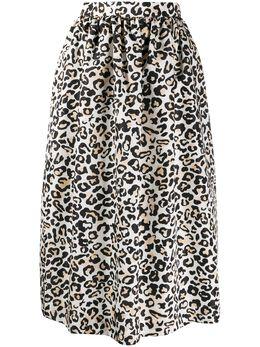 Ermanno Ermanno Scervino юбка с завышенной талией и леопардовым принтом 46TGN25TAM