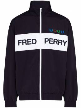 Fred Perry x Beams logo-print jacket SJ8025