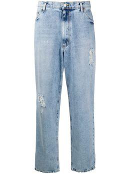 Natasha Zinko джинсы прямого кроя с эффектом потертости SS2030287