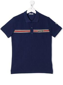 Moncler Kids рубашка-поло с логотипом 8A703208496W