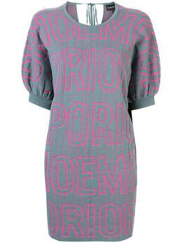 Emporio Armani платье-свитер с логотипом 3H2MTN2M14Z