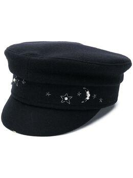Ruslan Baginskiy кепка с плоским верхом и кристаллами KPC03C
