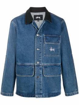 Stussy contrasting collar denim jacket 115498