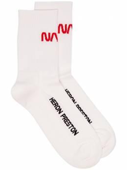Heron Preston носки с принтом Nasa и логотипом вязки интарсия HMRA002F197690210120