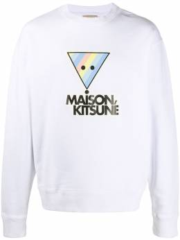 Maison Kitsune Rainbow Triangle Fox cotton sweatshirt EU00328KM0002