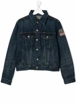Ralph Lauren Kids джинсовая куртка с нашивкой 323701282