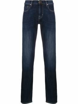 7 For All Mankind джинсы кроя слим с эффектом потертости JSMSU250MWSLIMMY