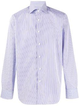 Canali рубашка в тонкую полоску N758GR01589