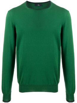 Fay свитер с контрастной отделкой NMMC1402330QPK0274