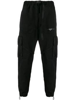 Off-White брюки карго Parachute OMCF004R20G370211001