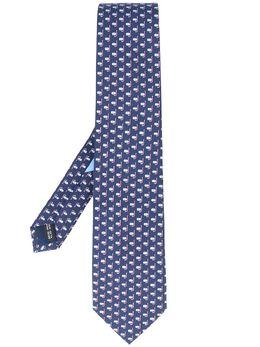 Salvatore Ferragamo твиловый галстук с принтом 723165
