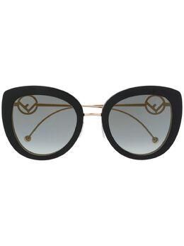 Fendi Eyewear солнцезащитные очки в массивной оправе с логотипом FF0409S