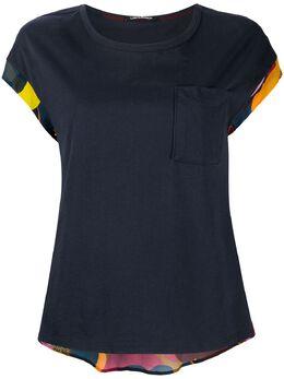Luisa Cerano блузка с короткими рукавами и принтом на спине 3186307528