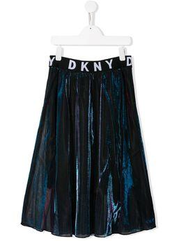 DKNY Kids юбка миди с логотипом D33547