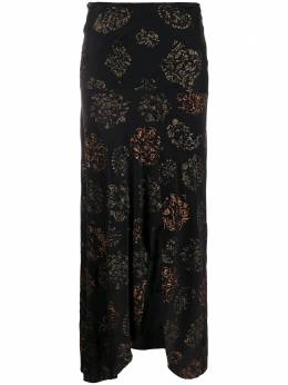 Romeo Gigli Pre-Owned юбка миди 1990-х годов с разрезом спереди и цветочным принтом RMGG380
