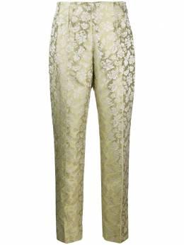 Romeo Gigli Pre-Owned брюки 1990-х годов с жаккардовым цветочным узором RMGG350