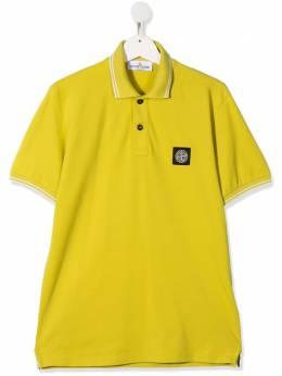 Stone Island Junior рубашка поло с нашивкой MO721621348