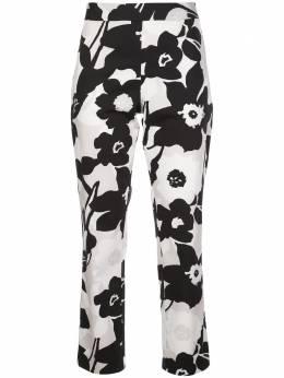 Natori укороченные брюки с цветочным принтом K87128