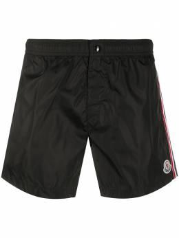 Moncler плавки-шорты с нашивкой-логотипом 2C7070053326