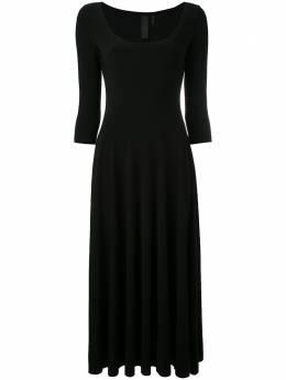 Norma Kamali платье-миди с глубоким круглым вырезом KK2273PL145001