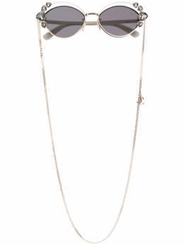 Jimmy Choo Eyewear декорированные солнцезащитные очки с двойной оправой SHINES