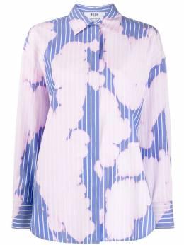 MSGM рубашка в полоску с эффектом потертости 2841MDE05CX207003