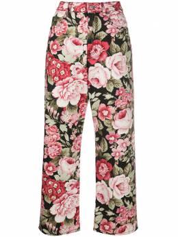 P.a.r.o.s.h. джинсы прямого кроя с цветочным принтом COTAPD230383