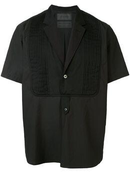 Fumito Ganryu рубашка с V-образным вырезом и короткими рукавами FU3SH12