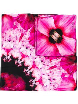 Alexander McQueen платок с цветочным принтом 6106233011Q