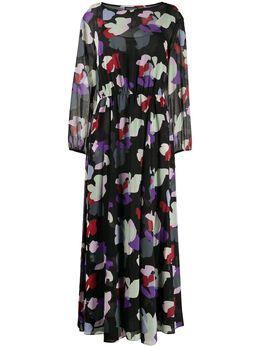 Emporio Armani платье макси с цветочным принтом 3H2A982NXUZ