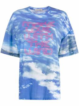 Christopher Kane футболка Make Love with the Wind SS20TS508SKYJERSEYBLUE