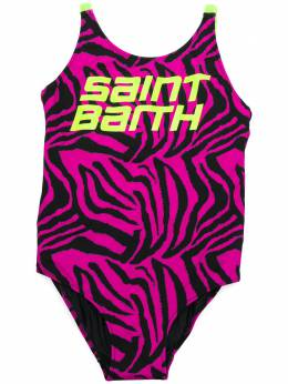 Mc2 Saint Barth Kids TEEN Martin tiger-print swimsuit MARTIN