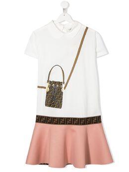 Fendi Kids платье с принтом JFB319AACL