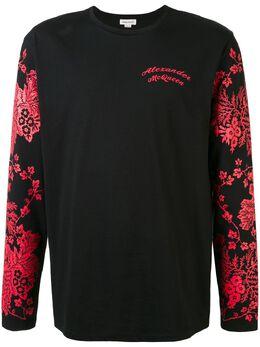 Alexander McQueen футболка с длинными рукавами и цветочным принтом 599562QOZ68