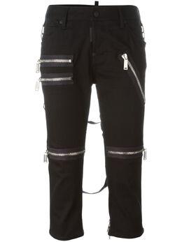 Dsquared2 укороченные брюки с молниями S75LA0779S30501