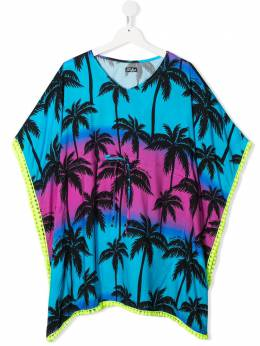 Mc2 Saint Barth Kids TEEN Kate palm-print cover-up KATE