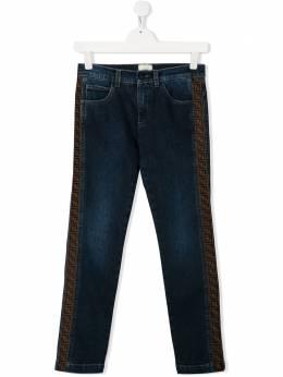 Fendi Kids джинсы с логотипом FF JMF247AAC4