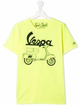 Mc2 Saint Barth Kids футболка Vespa с графичным принтом VPOU94