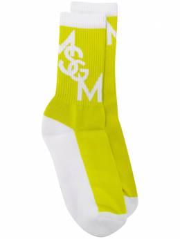 MSGM носки в рубчик с логотипом 2841MDS09207244