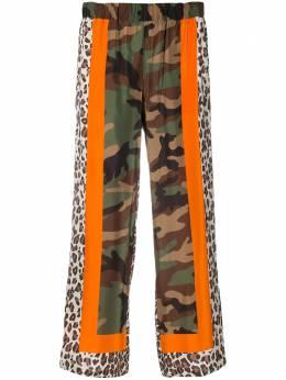 P.a.r.o.s.h. брюки Samuflage в технике пэчворк D231009SAMUFLAGE