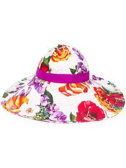 Dolce&Gabbana шляпа с цветочным принтом FH488AFSFJG